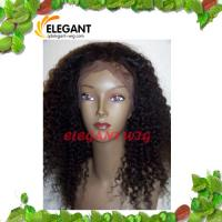 Buy cheap Fashionable 18 inch Light Brown Afro Curl Silk Top Full Lace Wig product