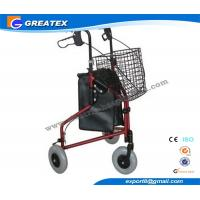 Buy cheap Three Wheel Folding Rollator Walker Aids With Cable Brakes And Food Tray product