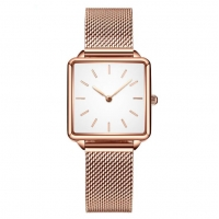 Buy cheap Ladies Square Stainless Steel Back Quartz Watch Mesh Band Wrist Watch product