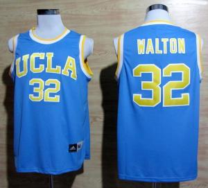 Buy cheap Топтыгины Билл Валтон Адидас УКЛА 32 трикотажные изделия баскетбола коллежа - синь from wholesalers