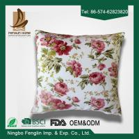 China Home Decorative Pink Flower Printed PP Cotton / Foam Sofa Cushions Replacement on sale