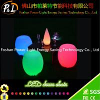 China RGB PE Plastic Round Bar Stool with LED on sale