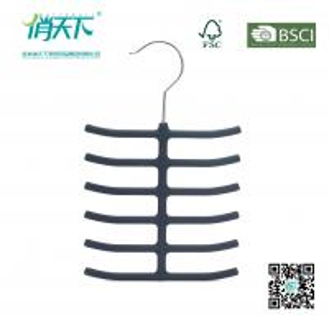 China Betterall Fish Bone Tie Hanger Black Velvet Clothes Hangers Wholesale on sale