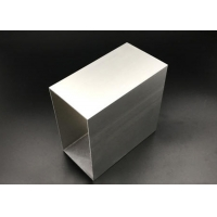 Buy cheap 100mm Square Aluminium Tube 1.5mm Thickness for Machinery Usage Silver Anodization 6061 T5 product
