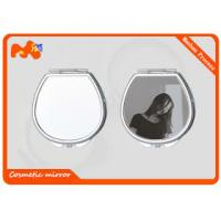 Buy cheap Beautiful Sublimation Metal Blanks Mirror , Colorful Compact Makeup Mirror product