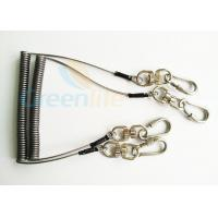 Quality Steel Spring Coil Tool Lanyard With 8 Shape Swivel / Stainless Carabiner for sale