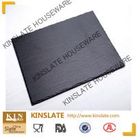 Buy cheap tablero los 20cm*30cm rectangular natural negro elegante del queso de la pizarra para el vajilla product