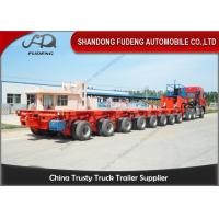 Buy cheap Hydraulic Modular Heavy Equipment Trailers 100 - 120 Tons Payload Multi Axles product