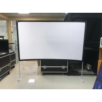 """Buy cheap RoHS 100"""" 1.1 Gain Fast Fold Projection Screen Polyester Fabric product"""