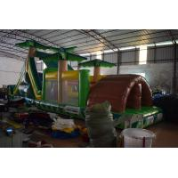 Buy cheap 0.55mm PVC Inflatable Obstacle Courses For Kids / blow up Palm Tree from wholesalers