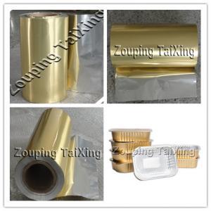 folha de alumínio dourada com o filme dos pp para o contianer