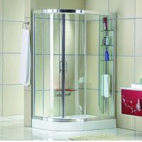 Buy cheap Automatic Curved interior Home frosted glass frameless shower doors product