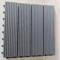 Buy cheap Anti Ultraviolet Wood Plastic Composite Flooring , Durable Co Extrusion PE Floor For Exterior product
