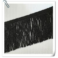 Buy cheap 2017 Factory Direct Hot Sales New Style Black Color Cotton Bullion Tassel Trims fringe For Sofa product