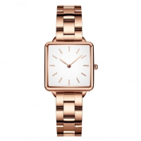 Buy cheap Women 3ATM Square Quartz Stainless Steel Watch Water Resistant product