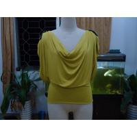 Buy cheap Cosy Mustard Womens Fashion Tops Plus Size Drape Neck Tops With Sleeves product