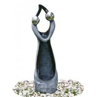 Buy cheap Stone Color Statue Water Fountains , Decorative Garden Fountains For House product
