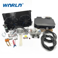 Buy cheap Truck Excavator Auto AC 12V 24V Air Conditioning Assembly product