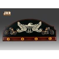China Decorative Wood Clothes Hanger 3D Resin Motorcycle Wall Decor Antique Wooden Pub Signs on sale