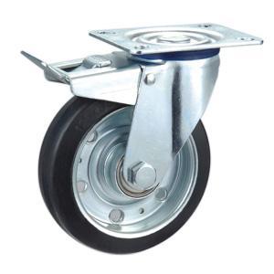Buy cheap Rueda de goma del echador de la base de acero product