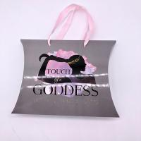 Buy cheap Glossy Lamination Custom Pillow Boxes For Full Lace Human Hair Wig Packaging product