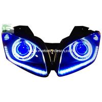 China 2013 YAMAHA YZF-R15 HID Head light Motorcycle Parts LED Drag Racing Original Head Light Bl on sale