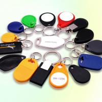 Buy cheap MF1K Chip RFID Id Card Keychain 13.56 MHz 5.8 Gms With UID Number Printing product