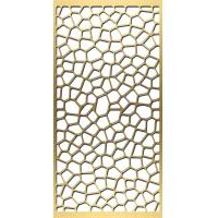 China gold plated stainless steel screen laser cut screens for tall room divider on sale