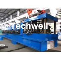 China 17 Main Rollers Cold / Hot Roll Forming Machine For Thickness 1.5 - 3.0mm CZ Purlin on sale