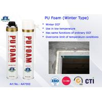 Buy cheap Winter Type PU Foam Insulation Spray B3 Fire Resistant for Doors and Windows product