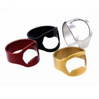China Innovative Colorful Stainless Steel Ring Beer Bottle Opener on sale