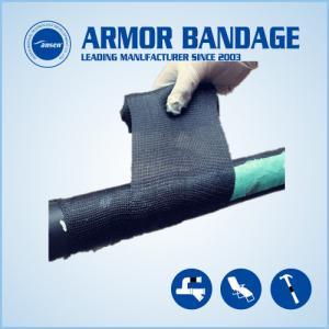 China High Rigidness Fast Hardening Bandage Emergency Fiberglass Pipe Repair Bandage Cast Armored Tape on sale