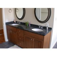 Black Color Natural Marble Vanity Countertops With Single Sink