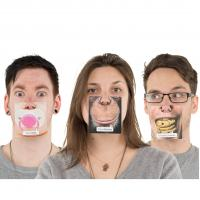 Buy cheap Paper Funny Face Mat Desktop Tea Cup Coaster With Customized Design product