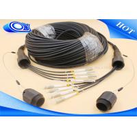 Buy cheap Black Color 4 Core MMF Simplex Tactical Fiber Cable LC / UPC IP67 PDLC Connector from wholesalers