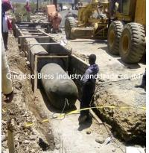 China Nigeria Kenya Cameroun  Italy  pneumatic tubular form culvert balloon for culvert construction on sale
