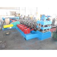 Buy cheap Macedonia Construction Crash Barrier Expressway Guardrail Cold Forming Machine Gearbox Driven 3 mm Plate Thickness product