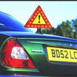 Magnétique, se pliant, moto imperméable de sécurité de LED avertissant le panneau routier réfléchissant de triangle
