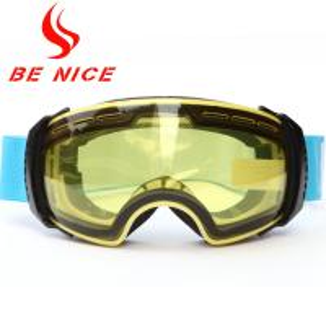 Anti Fog Detachable Ski Snowboard Goggles , Tinted Ski Goggles For Sports