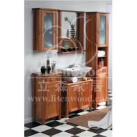 Pine solid wood bathroom furniture with cabinet mirror for Bathroom furniture quebec