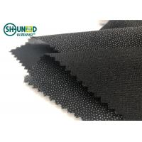 Buy cheap Eco-friendly Double Dot Twill woven fusible interlinings for business casual suit  Fusing Interlining product