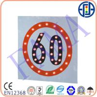 China 600*600 mm 60 Solar Speed Limit Sign on sale
