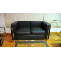 Buy cheap 2 Seats LC2 Modern Classic Sofa Genuine Leather American Style Black product