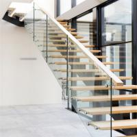 Buy cheap Solid wood stairs iron steel staircase price product