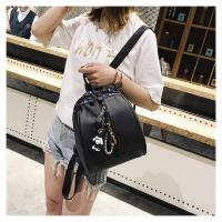 China Women and ladies PU backpack, Handbag Tote Bag Lady Sling Clutch Bag Shoulder Bag, black,dark gray on sale