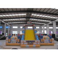 Buy cheap Top Inflatable Robot  City Bounce Jumpers , Commercial Fun Bounce House With Big Slide product