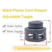 Buy cheap Black Plastic Cord Stopper & Adjustable Toggle product