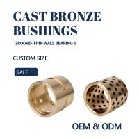 Buy cheap CNC Plugged Graphite Cast Bronze Sleeve Bearings For Oil / Grease Scrapers product