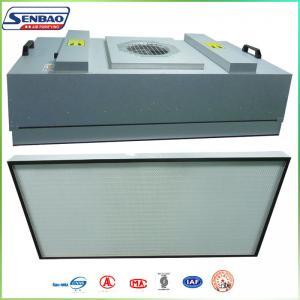 Buy cheap Воздушные фильтры ХВАК высокой эффективности, блок фильтра вентилятора Индустял ФФУ с Х13 99,99% from wholesalers