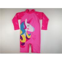 Buy cheap Pink Unicorn Kids UV Swimsuit  Polyester Long Sleeve High Neck Digital Printed product